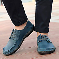 お買い得  大きいサイズ/小さいサイズ 靴-男性用 靴 PUレザー 春 / 秋 コンフォートシューズ ローファー&スリップアドオン ウォーキング ブルー / ライトブラウン / ダークブラウン