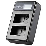 Andoer® np-fw50 Afișaj led-uri reîncărcabile Li-ion încărcător acumulator Kit cu 2 sloturi USB pentru sony alpha a7 a7r a7s a5000 a6000