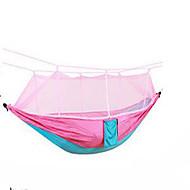 Camping-hængekøje med myggenet Udendørs Letvægt, Bærbar, Anti-myg Nylon for Campering & Vandring / Rejse / Udendørs Rosa