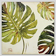 Botanical Style Canvas Material Oil Paintings with Stretched Frame Ready To Hang Size 70*70 CM