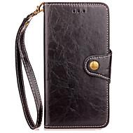 billiga Mobil cases & Skärmskydd-fodral Till Xiaomi Korthållare Plånbok med stativ Lucka Fodral Ensfärgat Hårt PU läder för Xiaomi Redmi Note 4X Xiaomi Redmi Note 4