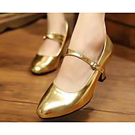 billige Moderne sko-Dame Moderne sko Lakklær / PU Høye hæler Dansesko Gull / Svart / Rød / Trening