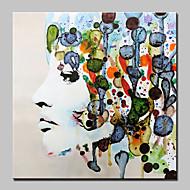 preiswerte -Handgemalte Menschen Quadratisch, Abstrakt Modern Segeltuch Hang-Ölgemälde Haus Dekoration Ein Panel