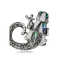 hesapli -Kadın's Genç Kız Broşlar Eşsiz Tasarım Moda Euramerican Elyapımı alaşım Animal Shape Mücevher Uyumluluk Özel Anlar Davet/Parti Günlük