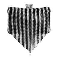 Žene Torbe Sva doba Poliester Večernja torbica Štras S resicama za Vjenčanje Zabave Formalan Crn Pink Red Crno-bijeli Duga