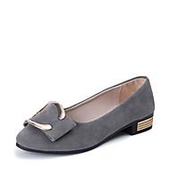 Női Szandálok Kényelmes PU Tavasz Nyár Ruha Kényelmes Alacsony Fekete Szürke Mandula 1 inch-1 3 / 4 inch