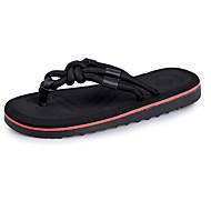 Herren Slippers & Flip-Flops Mokassin Leuchtende Sohlen PU Sommer Normal Upstream Schuhe Mokassin Leuchtende Sohlen Flacher AbsatzSchwarz