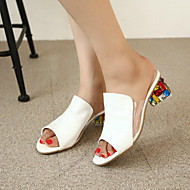 Women's Sandals Comfort Summer PU Casual White Ruby Flat