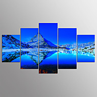 voordelige Prints-Afdrukken Op Opgespannen Doek Abstract, Vijf panelen Kangas Horizontaal Print Muurdecoratie Huisdecoratie