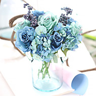 Flores artificiais 1 Ramo Estilo Europeu Rosas Flor de Mesa