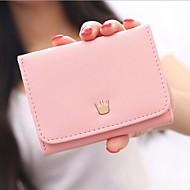 Damen Taschen PU Scheckheft Brieftasche für Normal Ganzjährig Fuchsia Rot Rosa