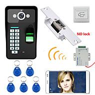 720p wireless wifi rfid parola de recunoaștere a amprentelor video video door door doorbel intercom sistem de blocare electrică grevă