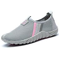 """נשים נעלי אתלטיקה נוחות טול אביב סתיו נוחות עקב שטוח פוקסיה אפור בהיר מתחת ל 2.54 ס""""מ"""