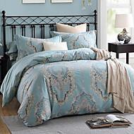cheap Duvet Covers-Solid 4 Piece Cotton Cotton 1pc Duvet Cover 2pcs Shams 1pc Flat Sheet