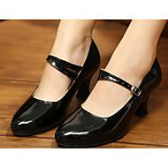 billige Moderne sko-Dame Moderne PU Lakklær Høye hæler Trening Gull Svart Rød