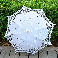 cheap Wedding Umbrellas-Vintage Handmade Middle Size Lace Umbrella Wedding Parasol Costume Accessory Bridal Photograph