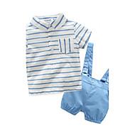 Dijete Dječji 100% pamuk Dungi Pamuk Ležerno/za svaki dan Izlasci Praznik Proljeće Ljeto Kratki rukav Komplet odjeće Na prugice Obala