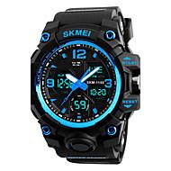 billige Militærur-SKMEI Herre Quartz Digital Watch Armbåndsur Militærur Sportsur Japansk Alarm Kalender Kronograf Vandafvisende LED Stor urskive