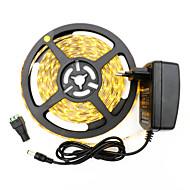 36W LED-es szalagfények 3400-3500 lm DC12 V 5 m 300 led Meleg fehér Fehér