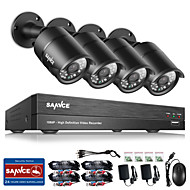 billige DVR-Sett-Sannce® 8ch cctv sikkerhetssystem onvif 1080p ahd / tvi / cvi / cvbs / ip 5-i-1 dvr med 4 * 2.0mp kameraer no hdd