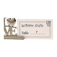 パーティーテーブル装飾愛の場所カードホルダー - 8個/セット - 3.2 x 3 x 0.9 cm /個 - カードなし - betergifts®ライフスタイル
