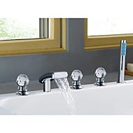 お買い得  浴槽用蛇口-浴槽用水栓 - 滝状吐水タイプ クロム 組み合わせ式 二つのハンドル5つの穴