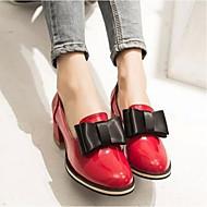 여성 로퍼&슬립-온 컴포트 PU 여름 캐쥬얼 컴포트 화이트 레드 플랫