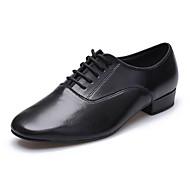"""billige Moderne sko-Herre Latin Lær Sandaler Joggesko Profesjonell Blomst Lav hæl Svart 2 """"- 2 3/4"""""""