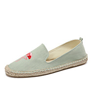 cheap Women's Slip-Ons & Loafers-Women's Shoes Denim Cotton Linen Summer Fall Light Soles Moccasin Espadrilles Loafers & Slip-Ons Flat Heel Round Toe Appliques Animal