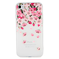 billiga Mobil cases & Skärmskydd-fodral Till Apple iPhone 7 Plus iPhone 7 Mönster Läderplastik Skal Blomma Mjukt TPU för iPhone 7 Plus iPhone 7 iPhone 6s Plus iPhone 6s