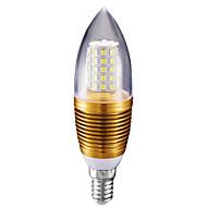 billige Stearinlyslamper med LED-10W 700lm E14 LED-lysestakepærer C35 60 LED perler SMD 2835 Kjølig hvit 85-265V