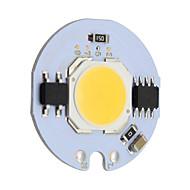 9w redondo cob levou chip inteligente ic ac 220v para diy teto luz downlight projector branco morno / frio (1 peça)