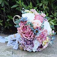Fleurs de mariage Bouquets Cérémonie de mariage Perle Dentelle Env.30cm