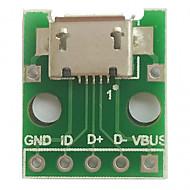 Micro usb k dipování (2.54 mm) samice b-typ mikropočítač čip adaptér deska
