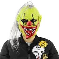 Hete halloween eng masker met pruik haar groen gezicht clown latex maskers lichtgewicht voor Halloween maskerade kostuum party bar