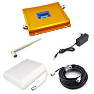 2g gsm 900mhz signalbooster gsm980 signal repeater mobiltelefon signalforsterker med panel antenne / pisk antenne / 15m kabel / gylden