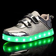 Djevojčice Cipele PU Til Proljeće Jesen Svjetleće tenisice Udobne cipele Sneakers Hodanje LED Mat selotejp za Kauzalni Vanjski Zlato Pink