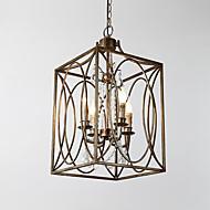 ארבעה ראשים וינטג מתכת amercian תעשייתי לופט ציור צבע אירופי נברשת מנורה עבור מלון מקורה / מלון / קפה / לקשט מנורת מנורה