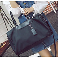 Women Bags All Seasons PU Canvas Oxford Cloth Travel Bag for Casual Outdoor Black