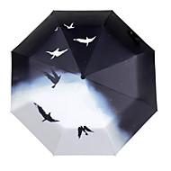 taube muster schwarz gel sonnenschutz sonnenschirm kreative uv schutz regenschirm