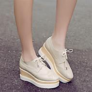 Dames Schoenen PU Lente Comfortabel Sneakers Sleehak Stilettohak Voor Causaal Zilver Roze Amandel