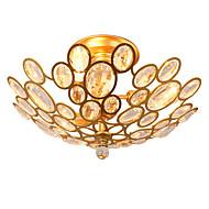 billige Taklamper-Lightmyself 3 lys gylden moderne krystall taklampe innendørs lys for stue soverom spisestue
