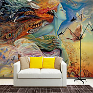 Art Deco Special Design Character Wallpaper For Home Modern/Comtemporary Wall Covering , Canvas Material Adhesive required Mural , Room
