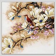halpa -Maalattu Kukkakuvio/Kasvitiede Abstrakti 1 paneeli Kanvas Hang-Painted öljymaalaus For Kodinsisustus