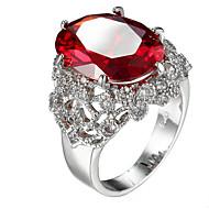 Dame Stenindfatning Båndringe Ring Kvadratisk Zirconium RhinstenEnkelt design Unikt design Rhinsten Geometrisk luksus smykker