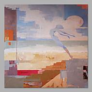Hang-Painted Oliemaleri Hånd malede - Abstrakt Abstrakt Lærred