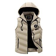 Pánské Standardní S vycpávkou Jednoduché Běžné/Denní Jednobarevné Proužky-Kabát Bavlna Bavlna Bez rukávů
