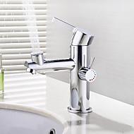 Pöytäasennus Keraaminen venttiili Yksi kahva yksi reikä for  Kromi , Kylpyhuone Sink hana