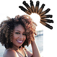 Tresses Twist Crochet Bouncy Curl 100% cheveux kanekalon KanekalonNoir / Blond Fraise Noir / Medium Auburn Noir / Bourgogne Gris noir