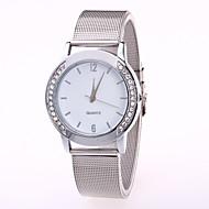 Dame Quartz Armbåndsur Kinesisk Afslappet Ur Rustfrit stål Bånd Afslappet Mode Sølv